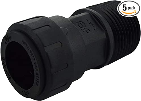 John Guest Speedfit PSEI012024 1//2-Inch CTS by 1//2-Inch NPT Male Connector 10-Pack