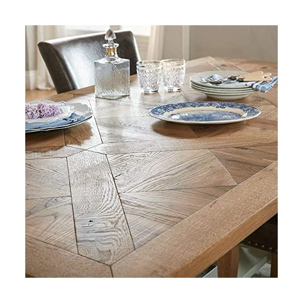Everhome Designs - Washington 9 Piece Rustic Oak Two-Tone Extension Dining Table Set