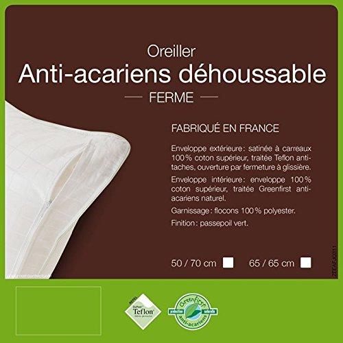 Lestra Fjord Health Pillow Pillows–Anti Dust Mite 100% Polyester. fjordsante700r Rectangular 50x 70cm
