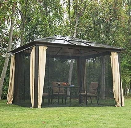 Carpa de jardín de aluminio para exteriores con sombra de sol de ...