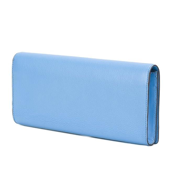577a446ca43 Tory Burch Leather Clutch Bag Crossbody (Montego Blue): Amazon.ca: Shoes &  Handbags