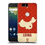 Head Case Designs China Printed Country Maps Soft Gel Case for Huawei Nexus 6P