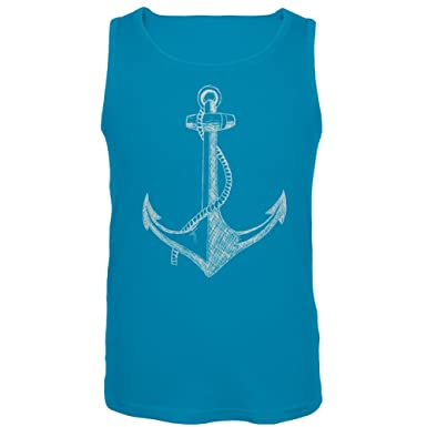9381b0aae9b19 Amazon.com  Old Glory - Anchor Blue Tank Top  Clothing