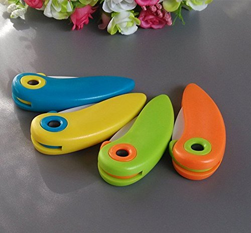 Mini Cute Bird Ceramic Fruit Knife, Pocket Ceramic Knife, Folding Knives, Kitchen Fruit Paring Knife With Colourful ABS Handle by Choopun Shop (Image #4)