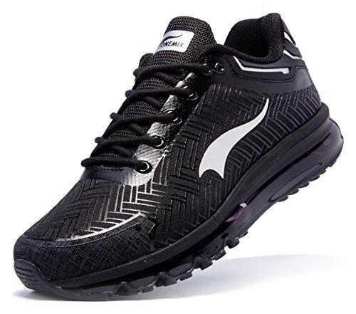 Sportive Running Scarpe argento Uomo Ginnastica Da Nero Basse Onemix Corsa aSwqY