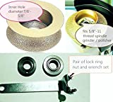 3/4-Inch 1 1/4 Inch 1 1/2 Inch Diamond Full Bull Nose router bit profile wheel natural stone quartz concrete granite marble glass engineer stone cement work with grinder polisher counter top repair