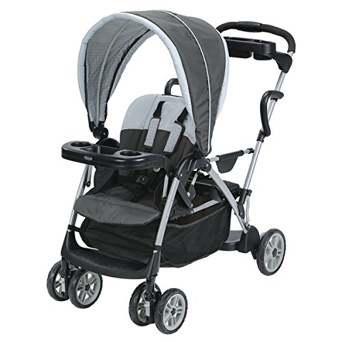 Graco RoomFor2 Stand Black, Grey, White Plastic Ride Click Connect Stroller (Graco Jogger Weather Shield)