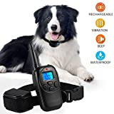 Training Dog Collar - Dog Training Collar Shock Collar for Dogs with Rechargeable and Waterproof Dog Collar No Barking with Beep Vibration and Shock Harmless E Collar for Small Medium Large Dog, 1000ft Remote control