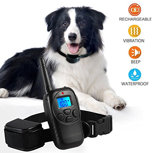 Felyong Dog Training Collar Shock Collar for Dogs with Rechargeable and Waterproof Dog Collar No Barking with Beep...