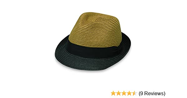 0c21458d9 Wallaroo Hat Company Tia Trilby Tan/Black at Amazon Women's Clothing store: