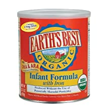 Earth's Best Organic Infant Formula with Iron, DHA, 25.75-Ounce Canister