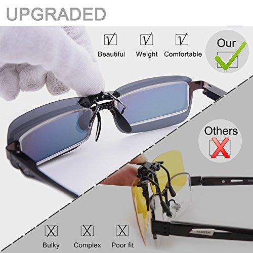 Lunettes pour des de lunettes soleil conduite clip de polarisé sur de myopie soleil pour Brown Clip pêche lunettes extérieure de unisexe lunettes Good prescription tq7aWp