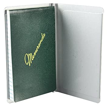 Saunders Padfolio Notepad Size, Recycled Aluminum, Silver (00882)