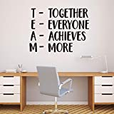 Pulse Vinyl Together Everyone Achieves More - TEAM - Inspirational Wall Quotes - 48'' x 36'' - Wall Art Decal - Decoration Vinyl Sticker - Peel Off Stickers