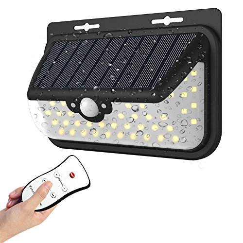 Solar Lights 48 LED Wall Light Outdoor IP65 Waterproof Security Lighting Nightlightwith Motion Sensor Detector and Remote Control