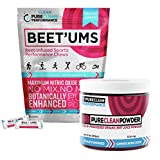 Performance Chews – Beet'Ums - Beet Infused Chocolate Pomegranate bite individually packed. PLUS PureClean Powder - 100% USA grown Organic Beet Powder (Jar 300G) - No Fillers, Sweeteners or Additives.