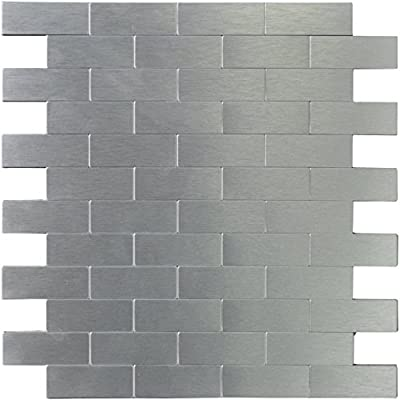 Art3d Peel and Stick Metal Backsplash Tile for Kitchen by Art3d