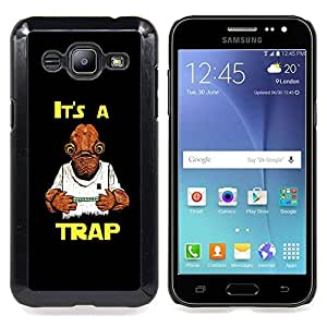 It's A Trap Funny Star Caja protectora de pl??stico duro Dise?¡Àado King Case For Samsung Galaxy J2