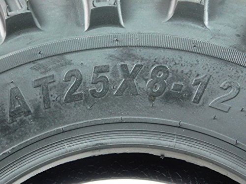New 4 Set of MASSFX MS Claw 25x10-12 Rear 25x8-12 Front ATV Tires Bear 6ply K299 by MASSFX (Image #2)