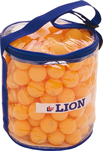 Table Tennis Sports Practice Balls Orange Transparent Zipped Drum 144 Balls by Sportsgear US