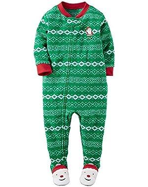 Carter's Baby Boys' 1-Piece Fleece Christmas PJs