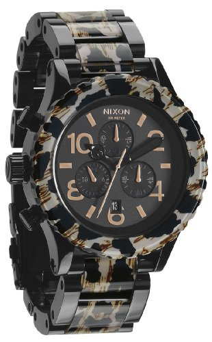 Nixon 42-20 Chrono Watch All Black/Leopard, One Size by NIXON