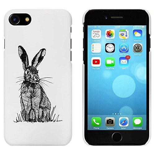 Blanc 'Assis Lièvre' étui / housse pour iPhone 7 (MC00083703)