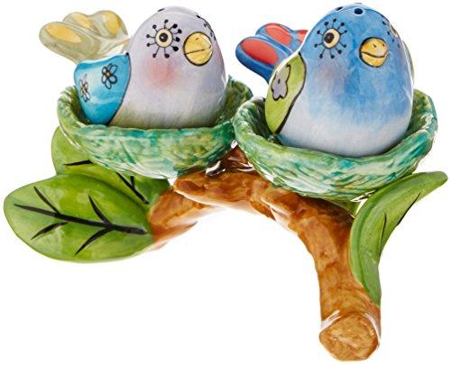 Fancy Bird (Appletree Design Flights of Fancy Bird Nest Salt and Pepper Set and Tealight Holder, 5-1/8 by 3-3/8-Inch)