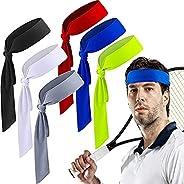 Quickly Dry Sports Headband,Ninja & Tennis Bandana,Tie Back Sweatband for Men, Women, Kids & Pirates -