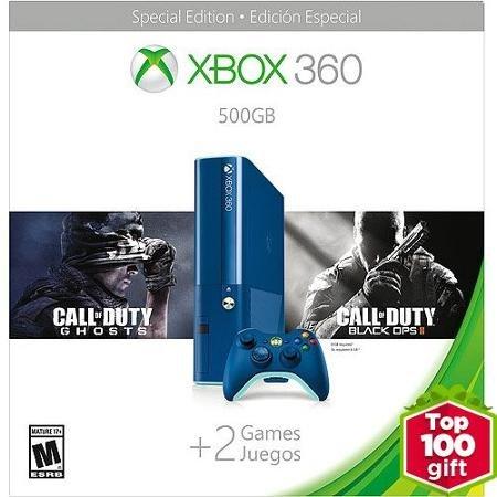 Xbox 360 E 500GB Blue COD BO2 (Xbox 360 Bundle Call Of Duty)