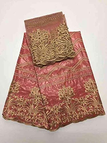 Lace - Bazin Riche getzner African Bazin Riche getzner Brode Bazin Brode Women Fashion French lace Fabric - (Color: colour6)