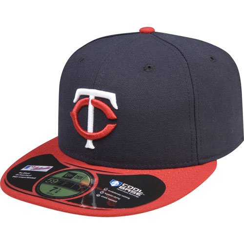 - Minnesota Twins Authentic Road Performance 59FIFTY On-Field Cap w/2010 Inaugural Stadium Patch - Navy/Red 7