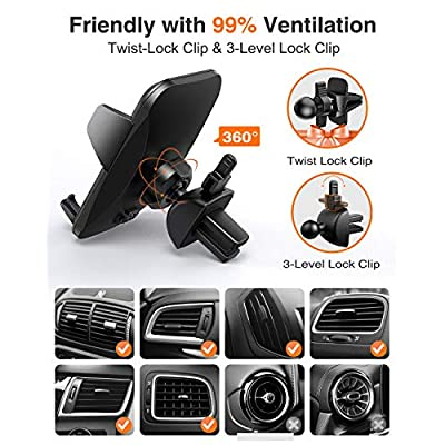 VANMASS Universal Air Vent Car Phone Holder, Patent Quick Release Button Cell Phone Holder for Car, Suit for Smartphone with Thick Case-Such as iPhone6/ iPhone 11 Max/Samsung Galaxy with Ring Case