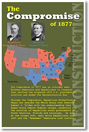 U.S. Reconstruction - The Compromise of 1877 - Civil War History Classroom Poster