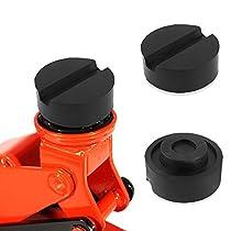 Wagenheber Gummiauflage, Aodoor Gummiauflage 125mmX 26mm mit Nut für Wagenheber und Hebebühnen ideal auch als Wagenheber Gummiblock