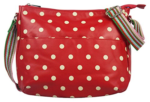 Red Pattern Crossbody Stars amp; Flowers Kukubird School Polka Gym Dot Various Bag Polkadots Messenger Strap Sling Poodle Rainbow Butterfly wf1nUcxn