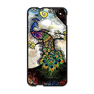 Colorful peacock Cell Phone Case for HTC One M7