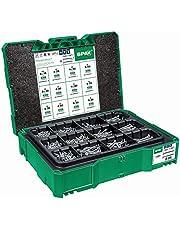 SPAX Box Systainer T-Loc I – montagekoffer met schroeven in 12 afmetingen voor opslag en transport – 5000009172009 groen