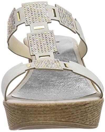 Vista 90-14402 - Mules Mujer Gris - Grau (beige)