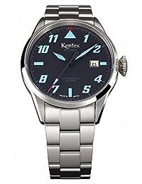 Kentex SKYMAN pilot Men's Automatic Black Dial Watch S688X-13