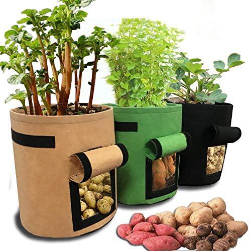 Bolsa para plantar patatas, 7 galones de velcro, ventana de ...