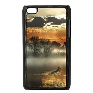 Ipod Touch 4 Beautifui sunset Phone Back Case Personalized Art Print Design Hard Shell Protection LK098426