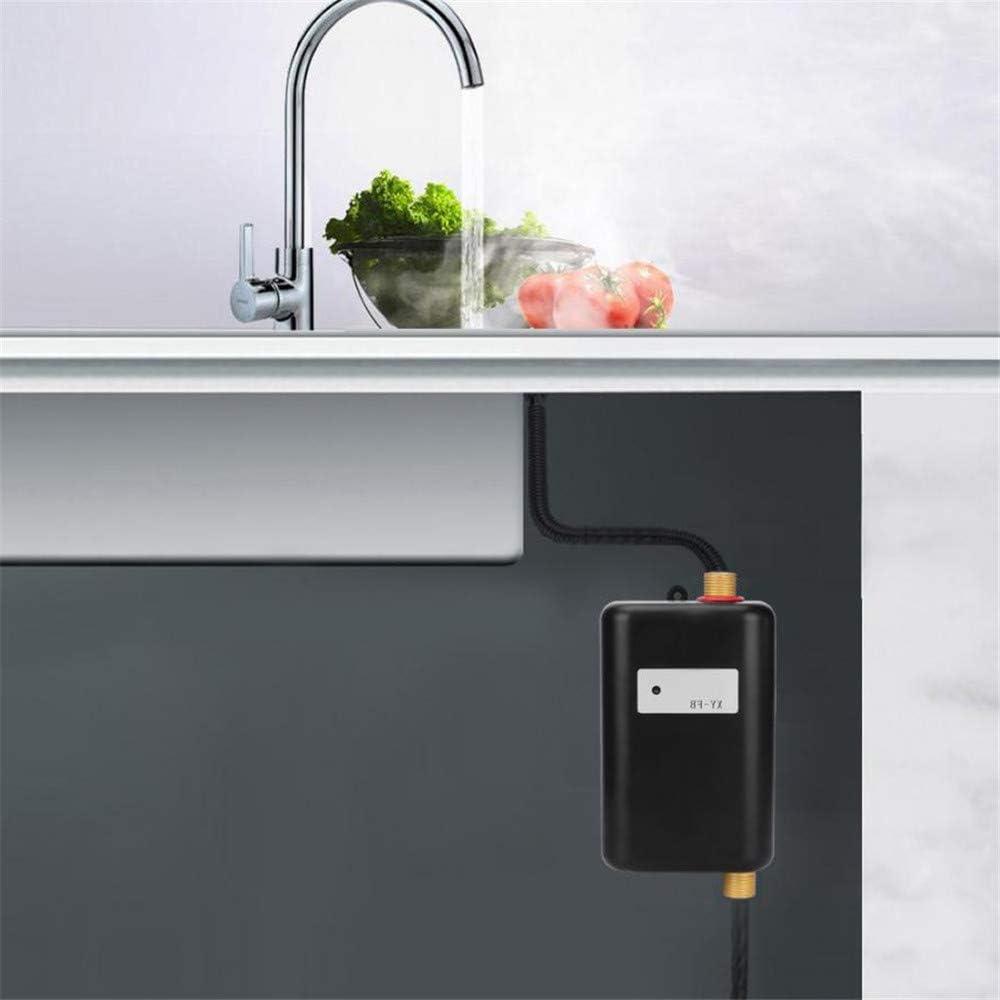 Mini calentador de agua r/ápido con pantalla para ba/ño y cocina