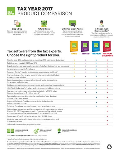 H&R Block Tax Software Premium 2017 + Refund Bonus Offer [PC Download]