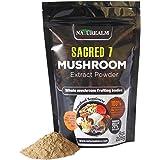 SACRED 7 Organic Mushroom Extract Powder - Reishi, Maitake, Cordyceps, Shiitake, Lion's Mane, Turkey Tail, Chaga - 226g - Supplement - Add to Coffee/Shakes/Smoothies (Original)