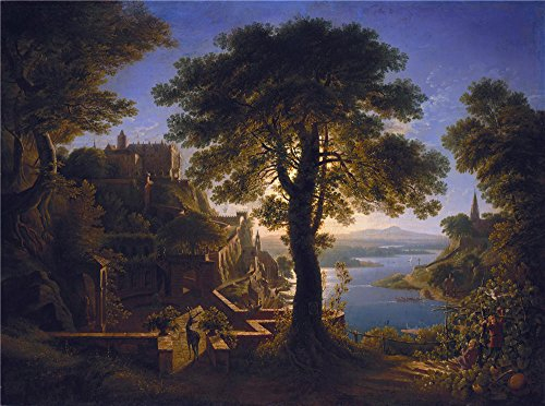 [Oil Painting 'Karl Friedrich Schinkel Schloss Am Strom', 10 x 13 inch / 25 x 34 cm , on High Definition HD canvas prints is for Gifts And Bath Room, Foyer And Laundry Room Decoration,] (Pictures Of Jazz Dance Costumes)