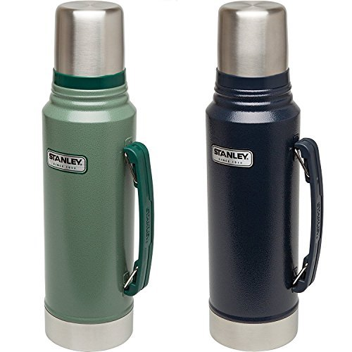 Outdoor 1.1 Quart Bottle (Stanley Classic Vacuum Bottle (Hammertone Navy (2 pack), 1.1QT))