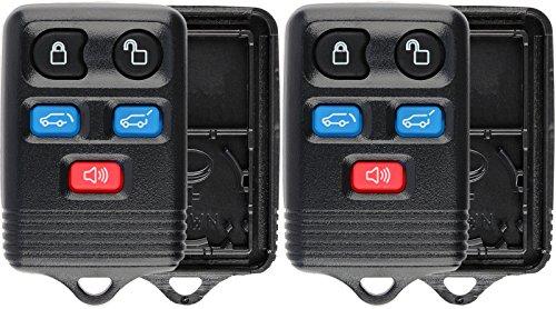 KeylessOption Keyless Remote Key Fob Case Shell for Ford Expedition Navigator CWTWB1U551 (Pack of 2) ()