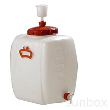 Bidón fermentador cerveza, despósito para fermentación 60L hermético con grifo y válvula de presión, macerar: Amazon.es: Hogar