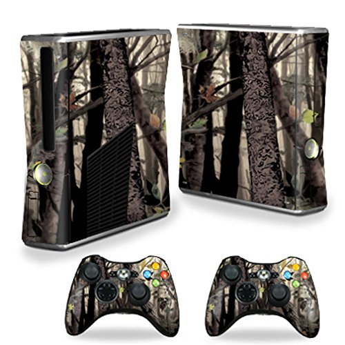 MightySkins Protective Vinyl Skin Decal Cover for Microsoft Xbox 360 S Slim + 2 Controller skins wrap sticker skins Tree Camo Review